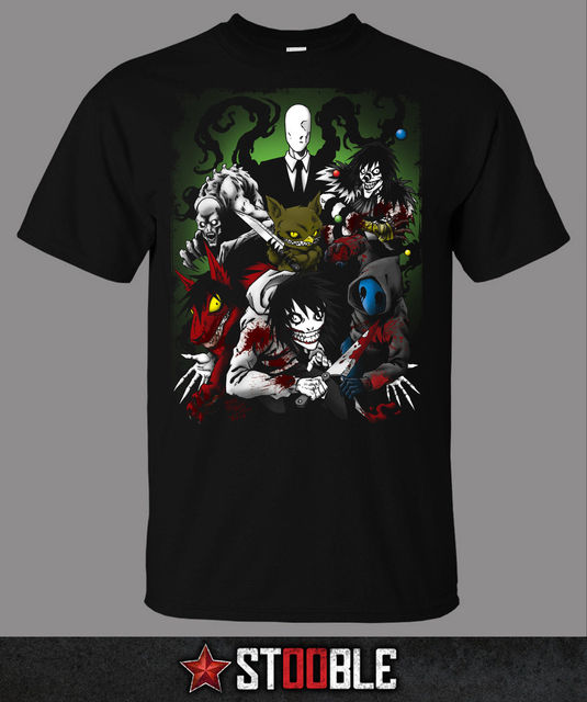831f4b29 Creepypasta Family T-Shirt - Direct from Stockist New T Shirts Funny Tops  Tee New
