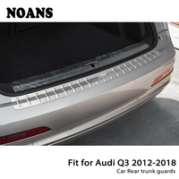 NOANS For Audi Q3 2012 2013 2014 2015 2016 2017 Auto Car Rear Trunk Door Bumper Anti Scratch Strips Stainless Steel Accessories