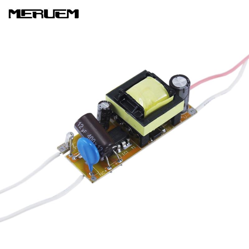 Ingyenes szállítás 6db / tétel AC85-265V 300Ma (10-20) x 1W LED-es lámpameghajtó tápegység-világító transzformátor E27 / E14 LED lámpákhoz