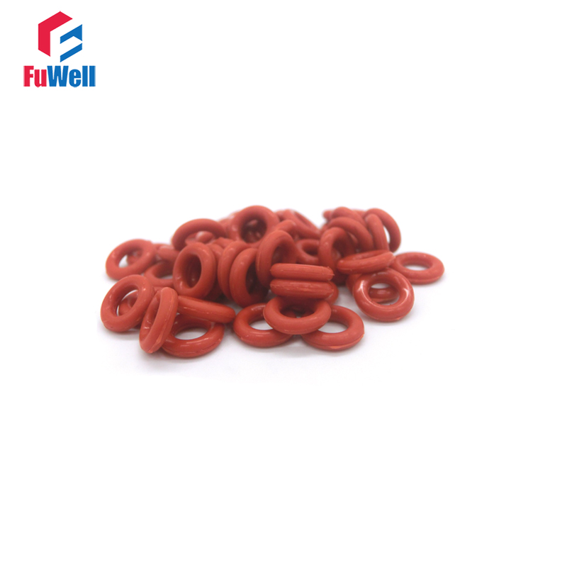 50pcs Red Silicon O Ring Seal Gasket 1.5mm Thickness 4.5mm-42mm OD VMQ O-ring Sealing 55Shore O Type Ring Seal Gasket аксессуар чехол книга для xiaomi redmi 6 innovation book silicone black 12468