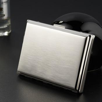 Portasigarette Di Metallo (tenere 20 Pcs) Argento Spazzola Di Sigarette Scatola Di Casi Di Sigaretta Scatole E Contenitori Di Stoccaggio Accessori Per Sigarette