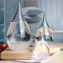 Прозрачный кристалл капли воды прогноз погоды бутылка шторм стекло жидкого дерева база орнамент дома крафтовые Свадебные украшения подарок