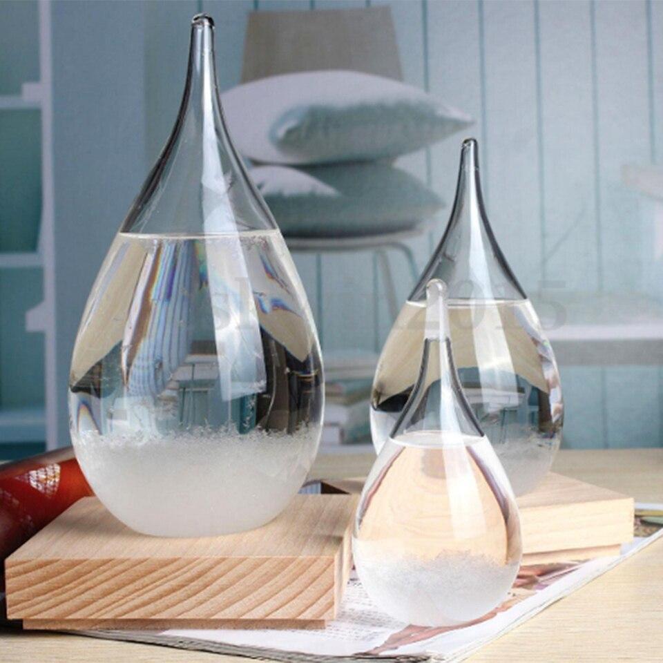 Weather Forecast Glass Crystal Drop-Water Shape Storm Bottle Home Decor Art Hot