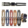 Venda de reloj de pulsera de lujo correa de cuero real para apple watch serie 2 y apple watch iwatch venda del cuero genuino 42mm 38mm