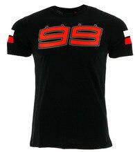 2017 Jorge Lorenzo 99 T-shirt homme grand Logo Moto course été noir