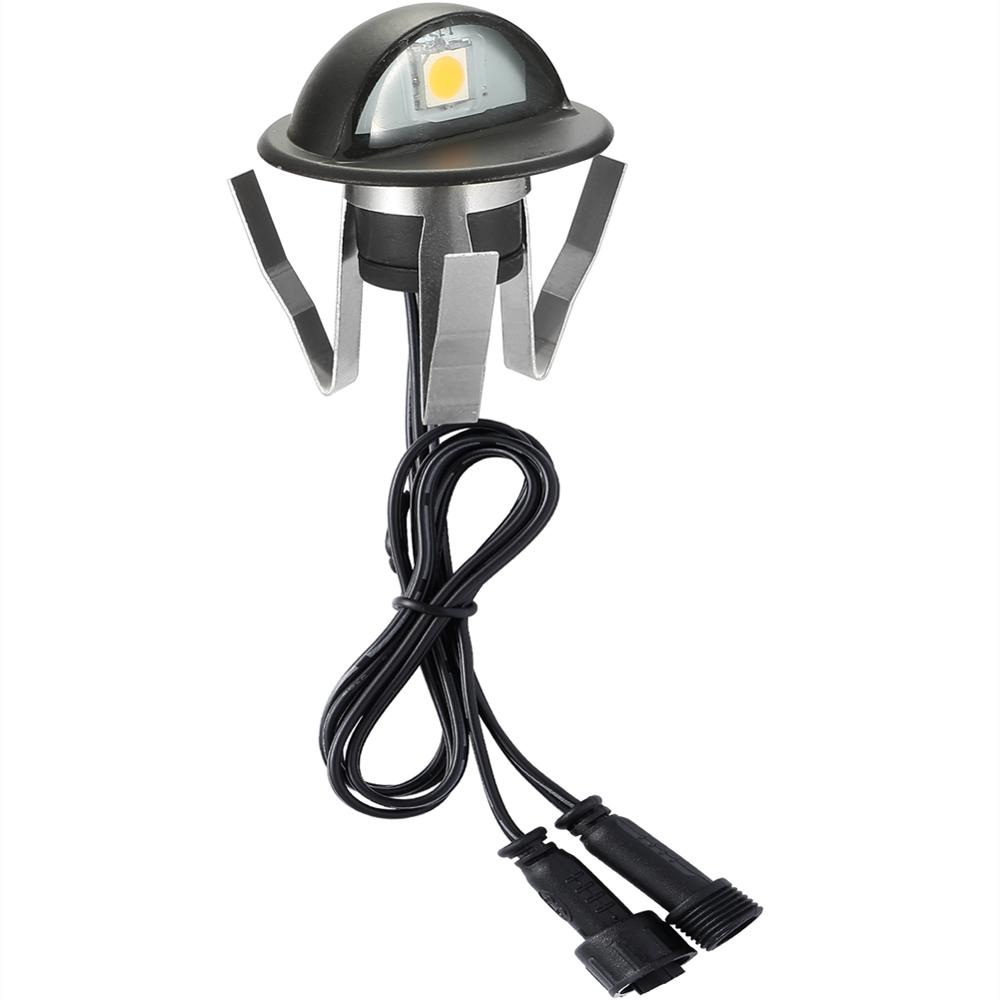 Image 4 - 10PCS/lot Black 35mm Half Moon LED Outdoor Garden Yard Fence Stair LED Deck Rail Step Lights Lamps Low Voltage String Light-in LED Underground Lamps from Lights & Lighting