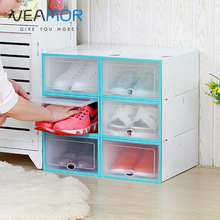 ФОТО VEAMOR   Men/women Shoes Storage Box Transparent Multifunction Storage Box Shoes Organizer Thickened drawer DIY Boxes