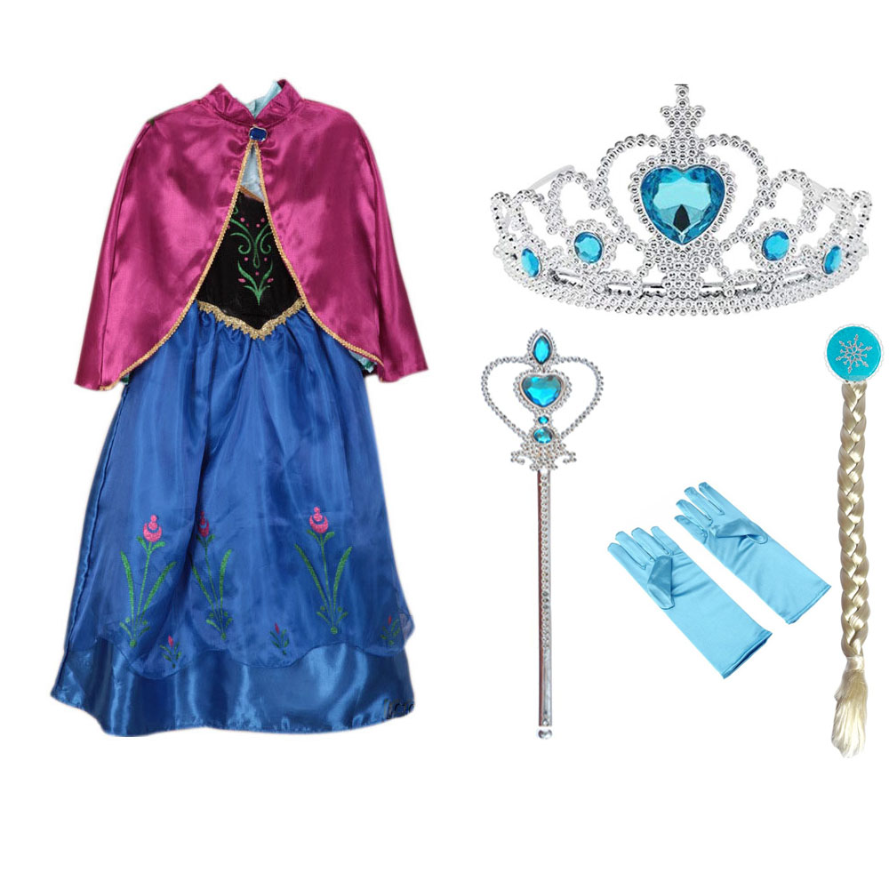 HTB1UYniXN2rK1RkSnhJq6ykdpXas Tiange Wedding Elsa Anna Dress Girls Costume Cute Party Princess Cosplay Baby Dresses Children's Christmas Birthday Set Clothes
