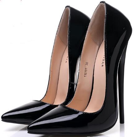 14/16 cm Sexy Heels Shoes women high heel shoes pumps pointed toes fashion lady wedding shoes big size 36-45 19 cm heels sexy women waterproof taiwan pumps 2018 new arrival fashion high heels lady plus size shoes big size 41 42 43 44