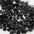 400pcs 2 mm - 6 mm Mixed Size charming beautiful black 14 facet round diamond sparkling acrylic nail art decoration N02