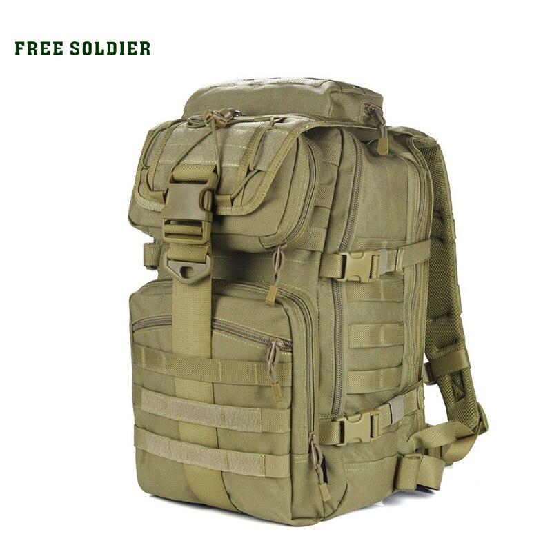 FREE SOLDIER Outdoor x7 Dupont teflon fabric YKK zipper duraflex tactical bag camping&hiking
