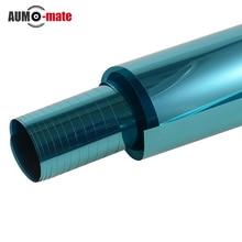 0.5 m * 3 m Blue Car Side Hojas de la Ventana Protección Solar Auto Polarizado de Ventanas