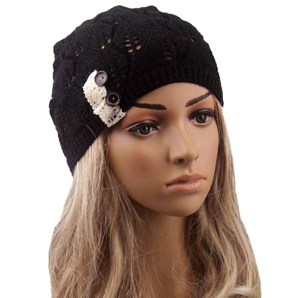 Hollow Out Knitting Hat Winter Hats For Women Leaves Knitting Women Hat Winter Cap Mujer Bonnet Femme Beanie #435 2017 new fashion autumn and winter wool leaves hollow out knitting hat thick female cap hats for girls women s hats female cap