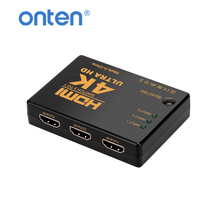 HDMI Splitter 3 port 1.4 HDMI Switch Switcher 4K HDMI Adapter Extender 3 Input 1 Output  for XBOX PS3 PS4 Projector Android HDTV top quality 4k 3840 2160 16 port hdmi splitter 1x16 with power adapter hdtv dvd ps3 xbox