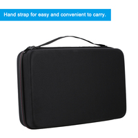 New Portable Battery Organizer Bag Hard EVA Storage Box Carrying Case Protective Shockproof Bag Holder for AA AAA C D 9V Battery