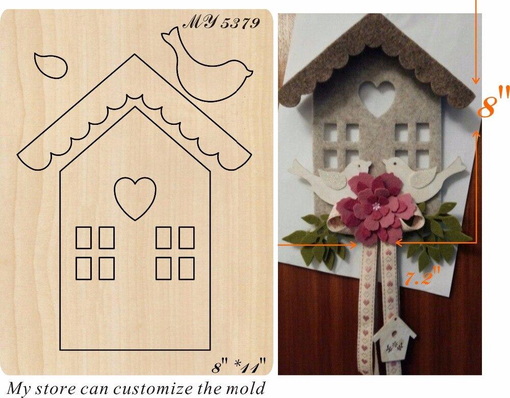 La maison d'oiseau nouveau moule en bois coupe des matrices pour le scrapbooking Thickness 15.8mm-in Matrices à découper from Maison & Animalerie    1