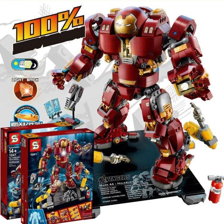 1530 sztuk Super Heroes Iron Man Hulk Buster: ultron edycja modelu figurki klocki kompatybilne z Lego 76105 darmowa wysyłka w Klocki od Zabawki i hobby na  Grupa 1