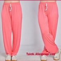 Pantaloni Tai Chi Kung Fu arti marziali Pantaloni Pantaloni di Yoga Tessuto modale nero rosa rosso blu viola nero bianco sei colori