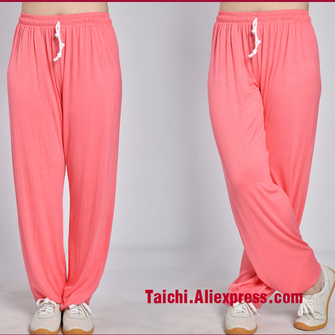 Tai Chi Pants Kung Fu martial Art Pants Yoga Pants  Modal Fabric black pink red blue purple black white six Colors