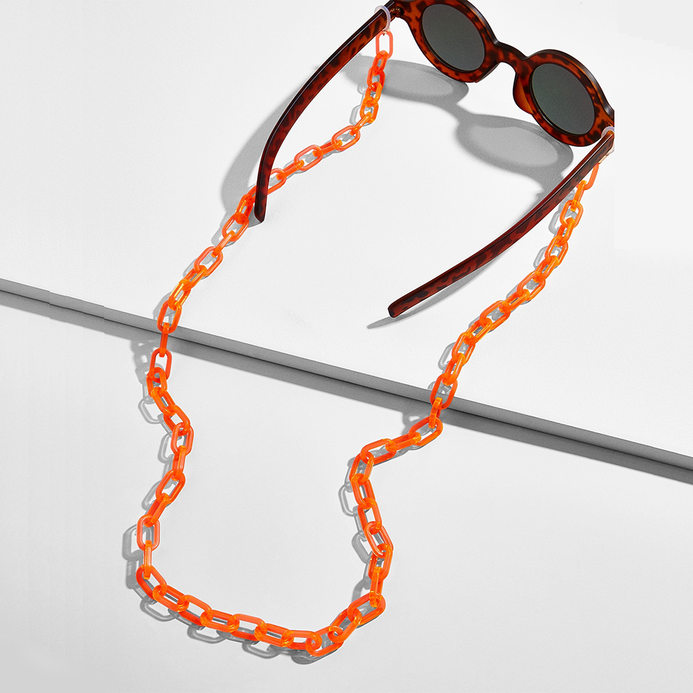 Acrylic Eyeglass Chain Anti-slip Adjustable Eyewear Cord Holder Neck Strap Reading Glasses Rope Women Sunglasses Chain