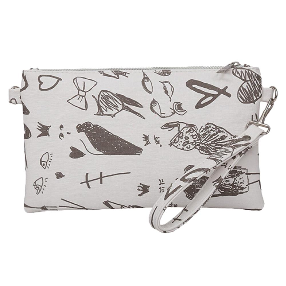 2018 Mini Wallet Girls Wallet Coin Purse Fashion Graffiti Womens Clutch Bag Envelope Bag Clutch Bag Female Handbag