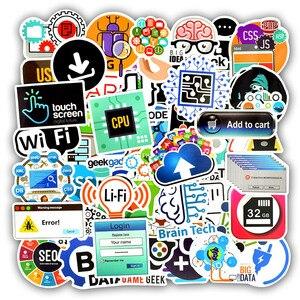 Image 2 - 50 PCS Programming Language Stickers Internet Html Software Waterproof Sticker for Geek Hacker Developer to DIY Laptop Phone Car