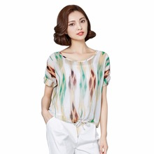 Summer Women Blouse Plus Size Striped Shirt Elegant Female Tops Chiffon Blusas Office Work Clothes