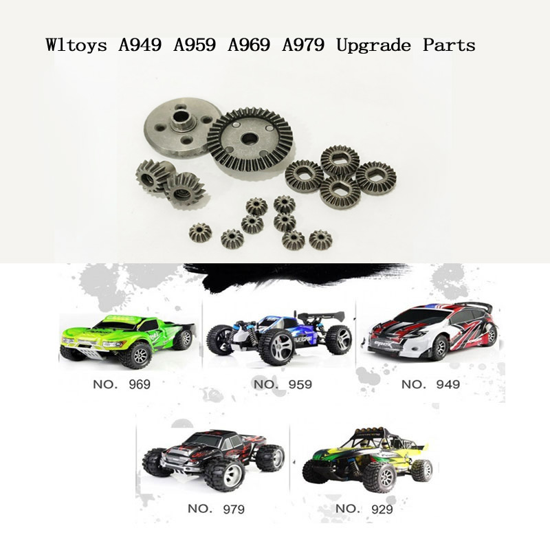 2 sets Upgrade parts Motor Driving Differential Gear Combo for WLtoys A949 A959 A959-B A979 K929 HSP 94801 94802 1/18 RC Car