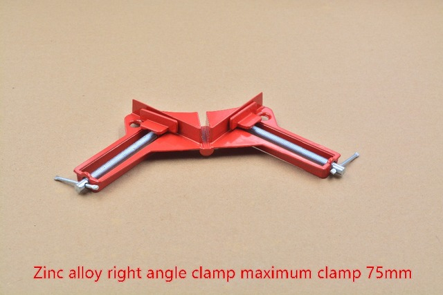 90 degree right angle clip folder wood work clip glass clamp frame tool fish tank clip aquarium red right angle clamp 1pcs