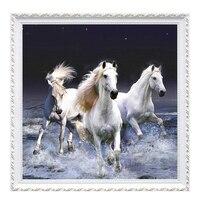 New Diamond Painting Three Horses Full Diamond Embroidery Cross Stitch Diy Round Diamond Mosaic Picture Of