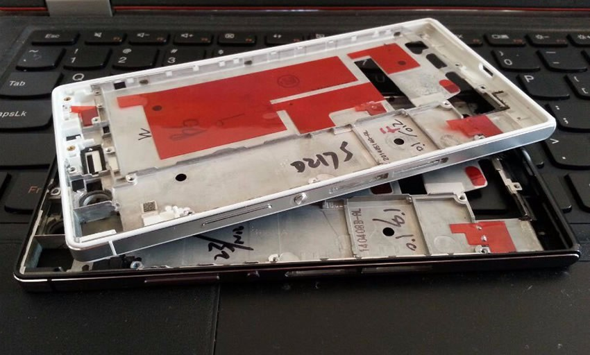 NEW For Huawei Ascend P7 Middle Frame Plate Faceplate Housing Cover LCD Frame Bezel With Side Button Repair Parts