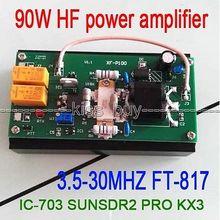 2016 90 Вт усилитель мощности HF для FT 817 IC 703 приемопередатчик PRO KX3 QRP Ham радио