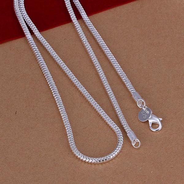 50 см мужская ожерелье ювелирных изделий 3 мм длинный размер вариант 925 стерлингового серебра длинное ожерелье змея цепи n192 подарочные сумки бесплатно