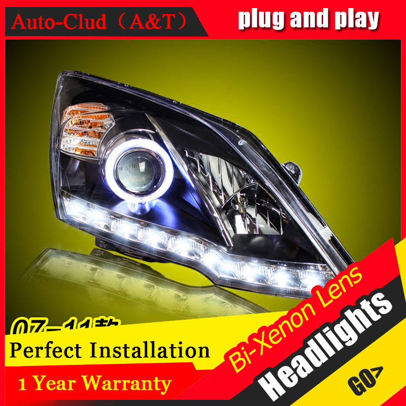 Car Styling For Honda CRV led headlights 2007-2011 For CRV head lamp Angel eye led DRL front light Bi-Xenon Lens xenon HID KIT car styling for honda crv headlights u angel eyes drl 2012 for honda crv led light bar drl bi xenon lens h7 xenon