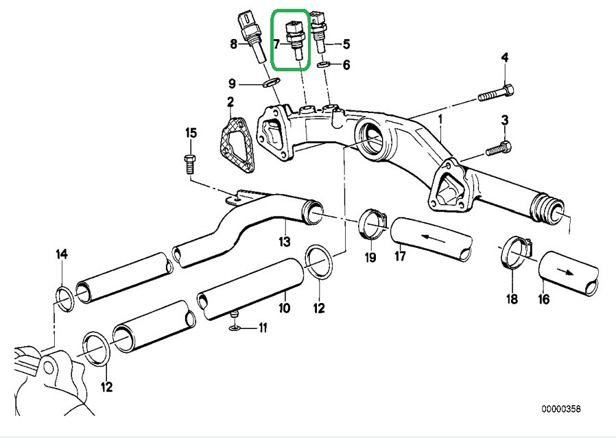 Engine Support Bmw X3 Horn