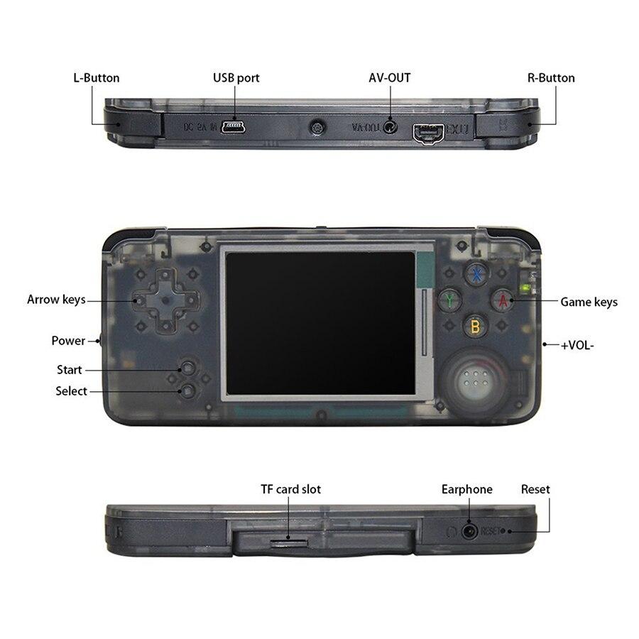 GB GARÇON Portable rétro jeu vidéo console console de jeu Portable 3.0 pouces TF 32 GB soutien eBook Enregistreur Intégré 800 jeux - 4
