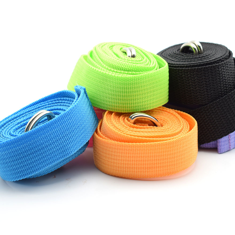 Women Yoga Stretch Strap Multi-Colors D-Ring Belt Fitness Exercise Gym Rope Figure Waist Leg Resistance Fitness Bands Yoga B-1