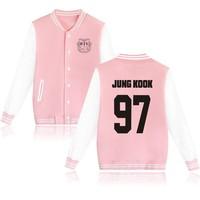 Kpop BTS Same Loose Printing Baseball Women Hoodies Korea Lovers Autumn Winter Baseball Sweatshirts College Wind