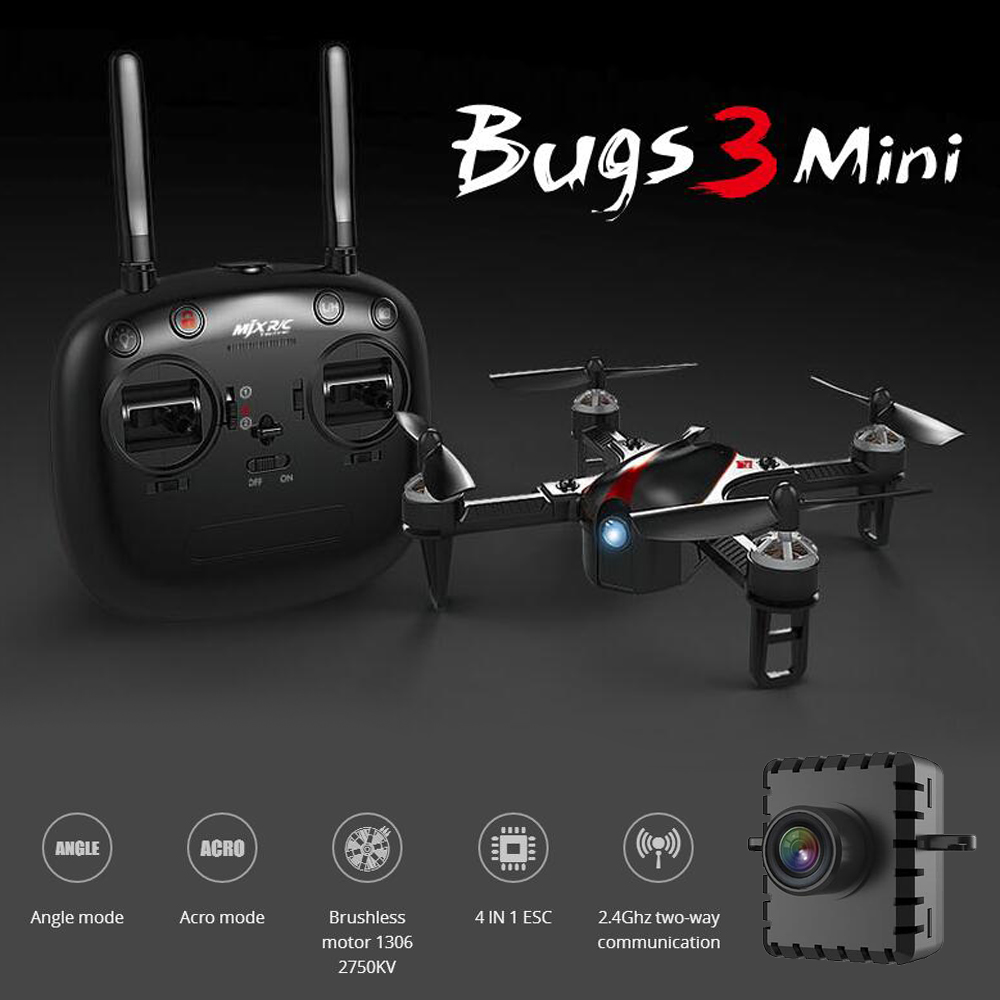 MJX B3mini FPV RC Quadcopter Brushless Motor RC Drone with WiFi Camera 2.4G 6-Axis RC Helicopter ACRO & ANGLEV Mode MJX B3 Mini mini rc global drone 2 4g 6 axis x183 gyro quadcopter with 2mp wifi fpv hd camera gps brushless mode remote control toys gifts