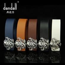 Skull Head Metal Button Buckle Mens PU Classic Belt Buckles Leather Waist Genuine Designer Fashion Jeans Novelty Belts Men
