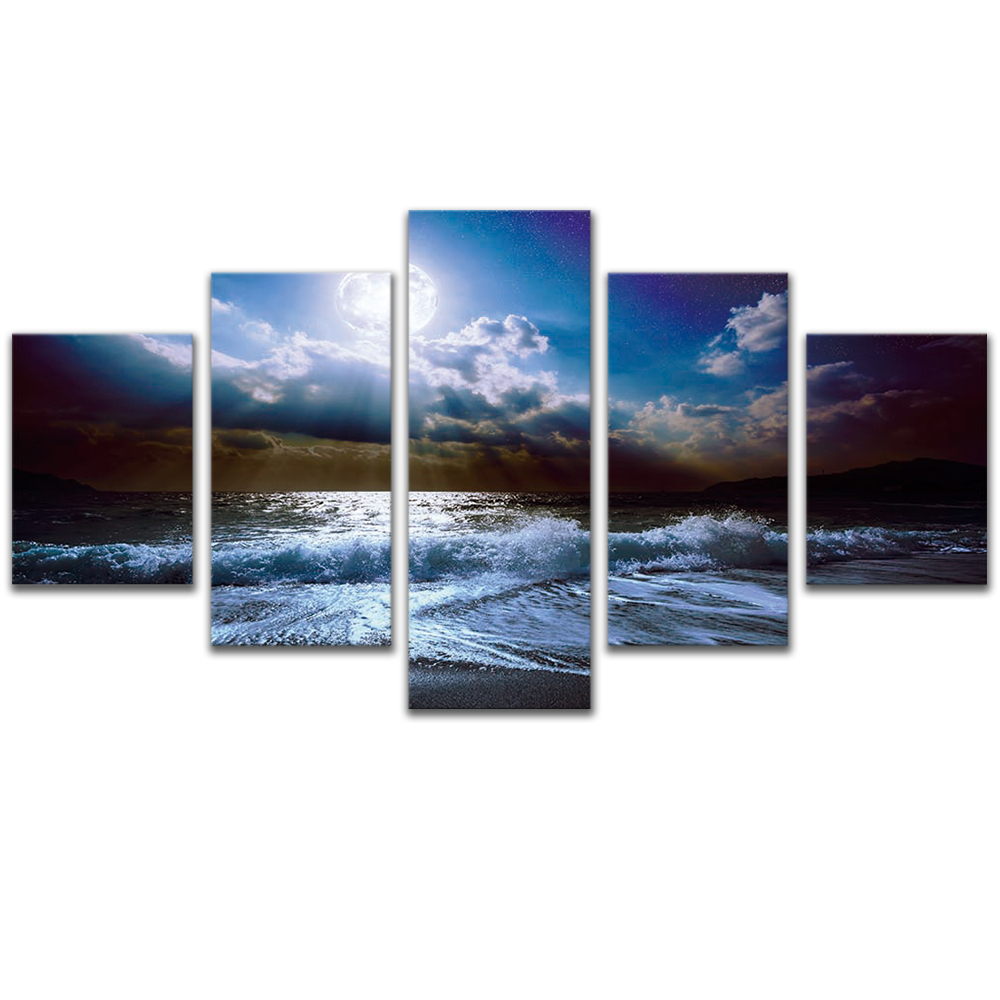 Unframed Canvas Painting Sunlight Waves Sea Level Photo Picture Prints Wall Picture For Living Room Wall Art Decoration