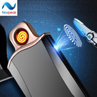 USB Rechargeable Lighter Smart Fingerprint Touch Sensor Electronic Cigarette Lighter Personalized Custom