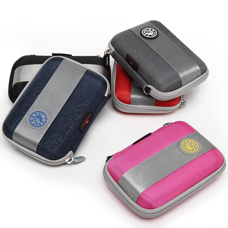 New for WD/Seagate/Samsung/Toshiba EVA waterproof shockproof mobile hard disk bag 2.5 inch digital mobile bag containing bag ...