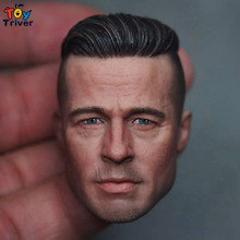 1/6 scale Brad Pitt The Soldier Head Sculpt Model DIY Accessories Toy Action Figure Body 12″ Doll Free Shipping