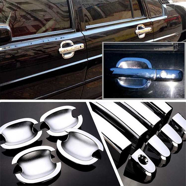 $ 20.99 Non-Rusty Chrome Door Handle Bowl Cover Cup Overlay Trim For VW Santana3000