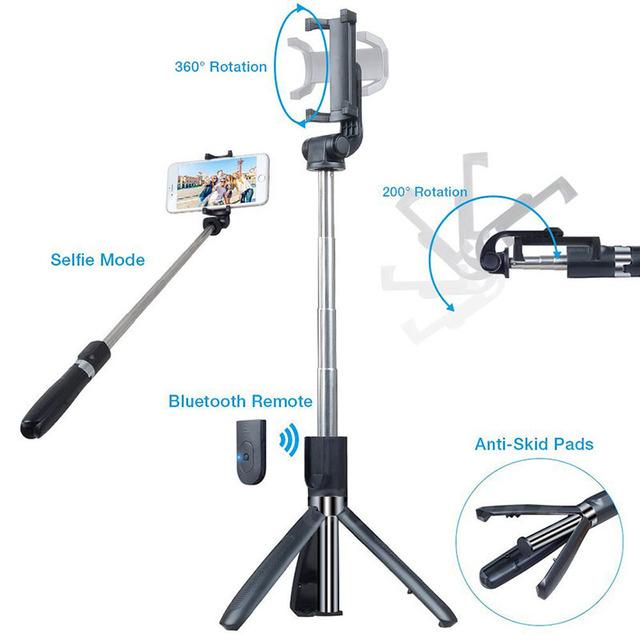 COOLJIER Universal Wireless Bluetooth Selfie Stick Mini Foldable Phone Tripod Extendable Monopod For iPhone 8 X 7 6s Plus