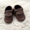KHAKI Genuine Leather Baby Shoe Baby Moccasins