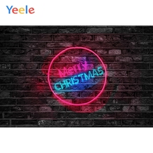 Yeele Christmas Photocall Fade Vintage Bricks Wall Photography Backdrops Personalized Photographic Backgrounds For Photo Studio
