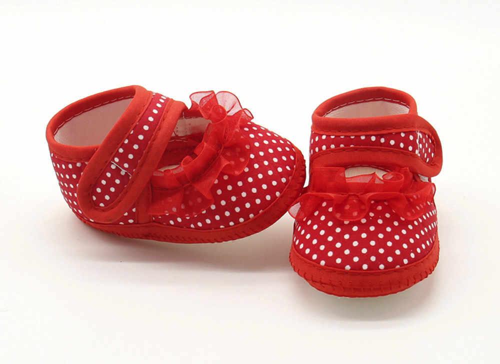 Zapatos de bebé para niña moda Dot Sweet Lace Girls suela para bebés suaves zapatos planos casuales cálidos zapatos bebe recien nacido