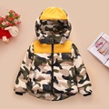 Free Shipping 2016 New Winter Children Down Jacket Unisex Spell Color Camouflage Jacket Coats Children's Clothing Kids Parkas 01